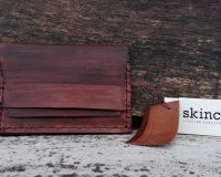 Skinclò wooden leather wallets and watch strap