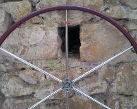 Skinclò rivestimento coppia ruote timone in cuoio toscano