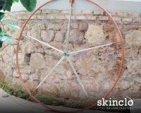 Rivestimento ruota timone in pelle per Gran Soleil 45 cantieri del Pardo*