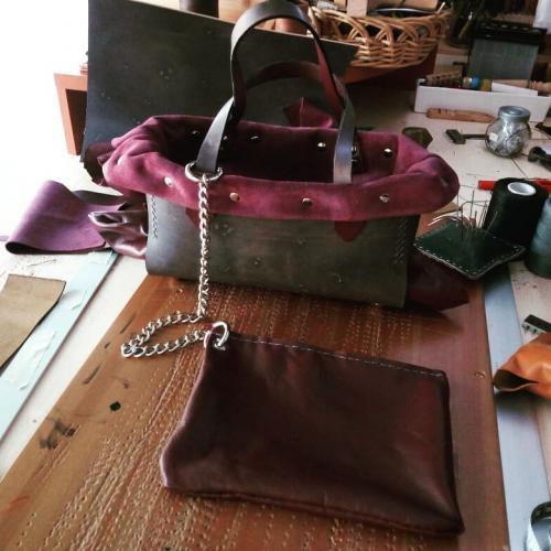borsa Skinclò leathex women's bag handmade in italy
