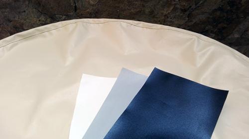 cuffia copertura ruota timone Skinclò rivestimento protezione ruota timone cuffia antipioggia timone colore blu colore beige colore bianco colore grigio