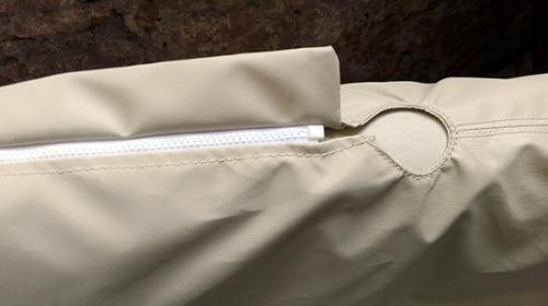 cuffia copertura ruota timone Skinclò rivestimento protezione ruota timone cuffia antipioggia timone vela protezione ruota timone Skinclò