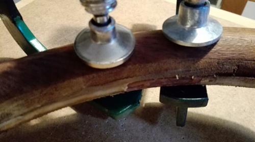 restauro ruota timone legno Skinclò