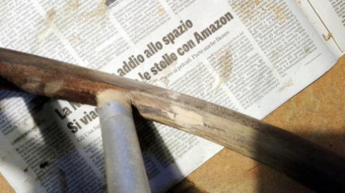 restauro ruote timone e rivestimento in pelle Skinclò