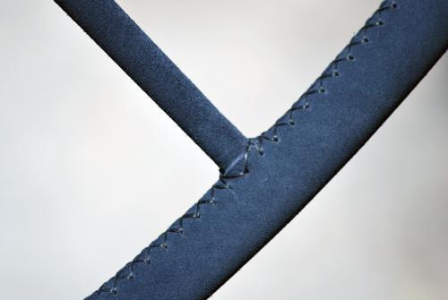 rivestimento scamosciato blu per ruote timone Skinclò