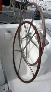rivestimento ruota timone barca a vela