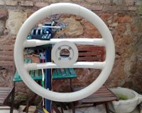 Yacht steering wheel leather cover Riva 24 Opera