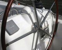 Rivestimento ruote timone in vera pelle per Beneteau Cyclades 43.4*