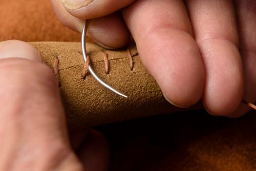 rivestimento ruota timone pelle scamosciata 5