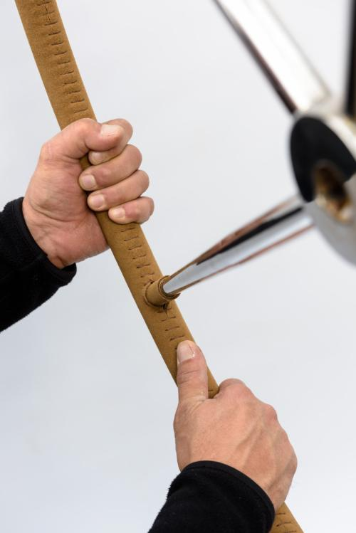rivestimento ruota timone pelle scamosciata 7